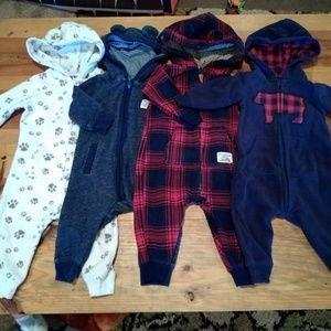 Lot of 4 zip up hoodie jumpers